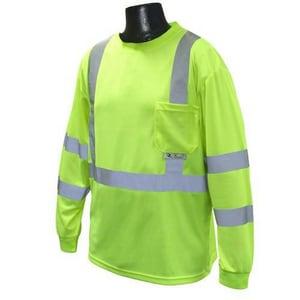 Radians Rad-Shade® L Size Long Sleeve Mesh Shirt in Hi-Viz Green RST21UV3PGSLHT