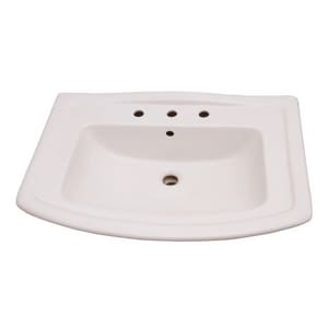 Barclay Products Limited Centre Lavatory Sink in White BB3498WH