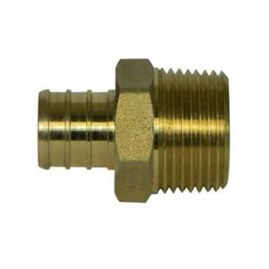 A.Y. McDonald 1/2 x 3/4 in. PEX x MNPT Brass Adapter M72300MDF