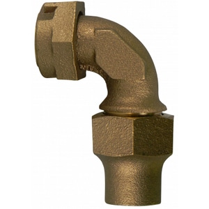 A.Y. McDonald 3/4 in. Meter Swivel x CTS Compression Water Service Brass Quarter Bend M74783SQF