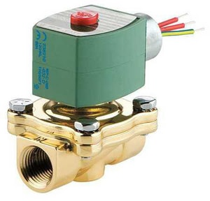 Asco Pneumatic Controls 8210 Series 120V Solenoid Valve 150 psi 4-13/100 in. Brass, Copper, Plastic, Rubber, Silver and Stainless Steel A8210G95HW120VA