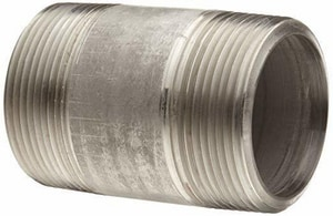 1 x 2-1/2 in. MNPT Schedule 80S 304L Stainless Steel Nipple Threaded on End AN480W1X212C