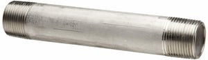 1/4 x 2 in. Threaded x Squared Straight and Seamless Schedule 40 304L Stainless Steel Nipple DS44SNTOEBK