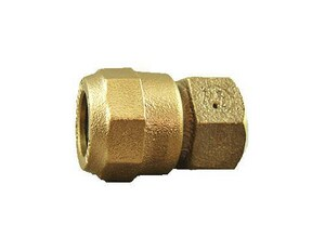 Cambridge Brass 1 in. Compression x FIP Brass Straight Coupling C117NLH4F4