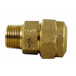 A.Y. McDonald 1 in. CTS Compression x MNPT Brass Adapter Coupling M74753QA