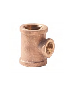 2 x 2 x 1-1/4 in. FNPT Brass  Reducing Tee IBRLFTKKH at Pollardwater