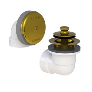 Watco Push-Pull PVC Pipe in Polished Brass W601PPPVCPB