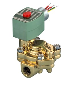 Asco Pneumatic Controls Red Hat® 8221 Series 1-1/4 in. 2-Way 120V FNPT Brass or Stainless Steel Normally Closed Solenoid Valve A8221G009 at Pollardwater
