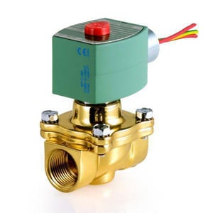 Asco Pneumatic Controls 8210 Series 120V Solenoid Valve 150 psi 5-57/100 in. Brass, Copper, Plastic, Rubber, Silver and Stainless Steel A8210G055 at Pollardwater