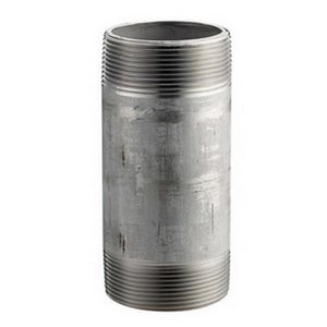 1 x 1-1/4 in. MNPT Schedule 40 304L Stainless Steel Weld Threaded Both End Nipple DS44NG