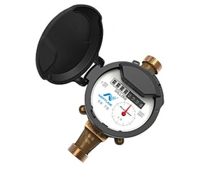 Neptune Technology Group T-10® 5/8 x 3/4 in. T-10® Copper Alloy PC Operated Water Meter (Less Receptor) NED2B11RPEF21