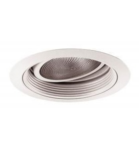Juno Lighting 6-1/4 in. Baffle Trim with Gimbal Ring in White J661209009654