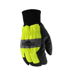 Radians M Size Hi-Visibility Thermal Lined Synthetic Leather Palm Glove in Black, Grey and Neon Yellow RRWG800
