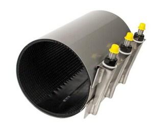 Romac Industries 8 x 6 in. Stainless Steel Repair Clamp (6.60 - 7.00 in.) RSS107000800