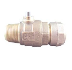 Cambridge Brass 3/4 x 3/4 in. CC x Flared Cast Brass Corporation Stop C301NLA3C3