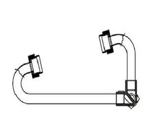 Cambridge Brass 5/8 x 1/2 in. MIP Reducing Meter Setter C7020NLM3M3