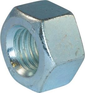 10 in. Plated Heavy Hex Nut Flange Bolt Set in Zinc FBSETZHH10