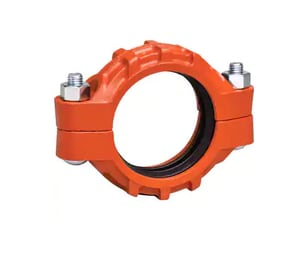 Gruvlok Rigidlite® Fig 7400 4 in. Grooved Galvanized Ductile Iron Coupling with E Gasket GG7400EP