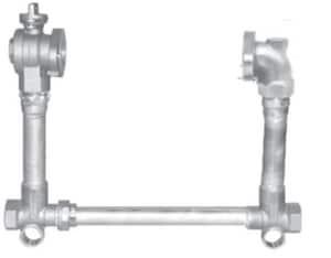 A.Y. McDonald 12 x 2 in. FNPT Brass Straight Meter Setter M720712WNFF770K12