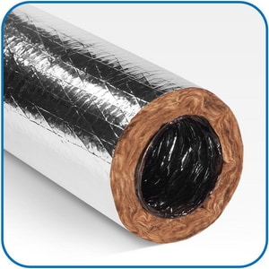 Quietflex Manufacturing HPDFlex™ 8 in. x 25 ft. Polyester and Polyethylene R6 Flexible Air Duct Q8380