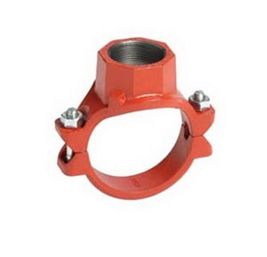 Gruvlok 1-1/2 x 1-1/2 x 3/4 in. Plated Mechanical Branch Reducing Tee GGM315075E