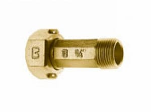 Cambridge Brass 3/4 in. Nut x MIP Brass Straight Coupling C417NLT3M3