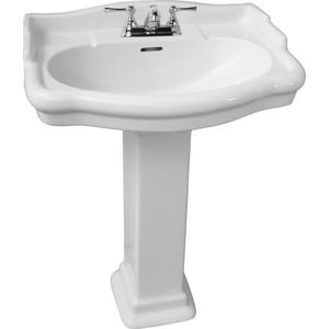 Barclay Products Limited Centerset Lavatory Sink in White BB3864WH