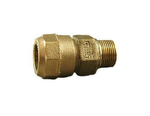 Cambridge Brass 1-1/4 in. Compression x MIP Brass Straight Coupling C117NLH5M5