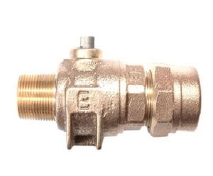 Cambridge Brass 1-1/4 x 1-1/4 in. MIP x Compression Cast Brass Corporation Stop C301NLM5H5
