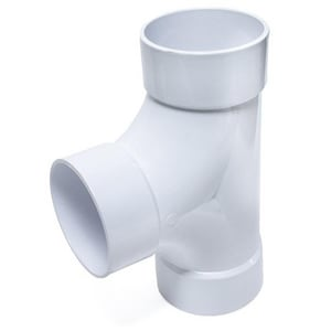 Specified Fittings 8 in. Solvent Weld IPS Straight SDR 26 Heavy Wall Sewer Plastic Tee S828208IPS