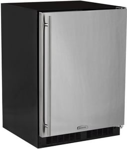 Marvel Industries 23-7/8 in. 4.9 cf Built-in Refrigerator Freezer with Factory Installed Crescent Ice Maker, Bin Solid, Door and Integrated Right Hinge in Panel Ready MML24RIP5RP