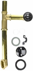 Watco Tubular Brass Slip-Joint Assembly in Polished Chrome W501FABRSCPNYEX3
