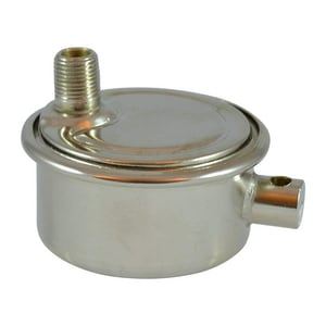 Eaton-Dole Controls 1/8 in Angle Supply Stop Valve in Polished Nickel DOL804
