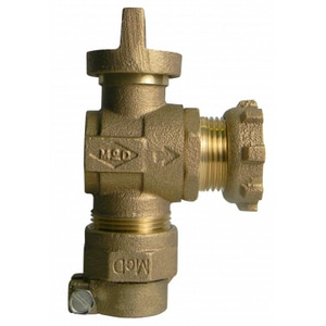 A.Y. McDonald 1 in. CTS Compression x Yoke Star Nut Brass Angle Valve M74642BY22GE