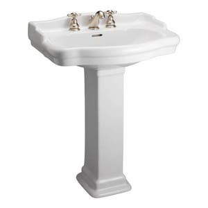 Barclay Products Limited Evolution™ Pedestal Lavatory Large Column Only in White BC3840WH