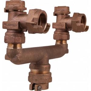 A.Y. McDonald 1 x 3/4 x 3/4 in. CTS x FNPT x Spread Water Service Brass U Branch M74127036
