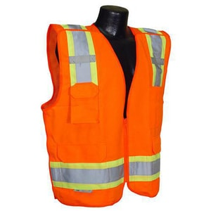 Radians XXL Size Polyester Class 2 2-Tone Breakaway Safety Vest in Hi-Viz Orange RSV46O2X at Pollardwater