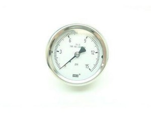 WIKA XSEL® 15 psi Lower Mount Dry Case Process Gauge W9834737 at Pollardwater