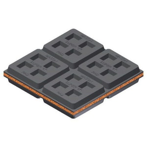 Mason Industries 2 x 2 in. Cork and Rubber Isolation Pad MSUPERK22