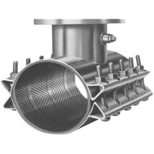JCM Industries 12 x 12 x 8 in. Flanged 304L Stainless Steel Tapping Sleeve 14.40 - 14.08 in. J4321420X8