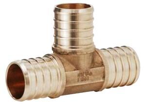 Matco-Norca 3/4 x 3/4 x 3/4 in. PEX Brass Barbed Tee MPXT04LF