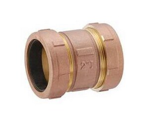 Matco-Norca 1 in. Compression Brass Short Coupling M450T05LF