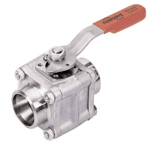 Series 44 1 in. 316 Stainless Steel NPT 1440# Ball Valve W4466RTSEG