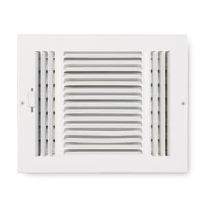 Accord Ventilation Products 8 x 6 in. Ceiling & Sidewall Register in White 3-way Steel A2030806WH
