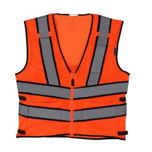Fairway L Size Safety Vest in Orange LAV210E