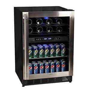 Magic Chef Appliance Dual Zone Wine and Beverage Cooler in Stainless Steel MMCWBC77DZC