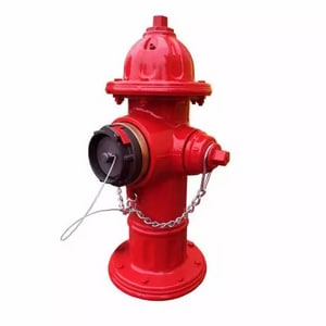 M&H Valve Model 129 Red 3 ft. Mechanical Joint 6 in. Open Left Fire Hydrant with 5-1/4 in. Valve Opening M1295143MJ6LAOL
