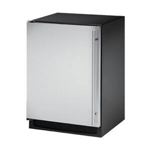 U-Line 24 x 23-1/4 in. Left Hand Combo Ice Maker/Refrigerator in Stainless Steel UUCLRCO2175S41