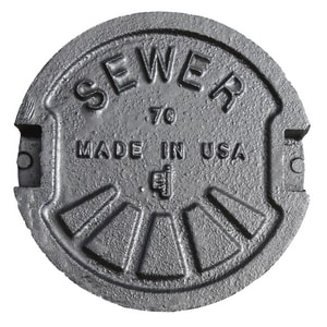 Bass and Hays Foundry Cast Iron Valve Box Lid for Sewer B3401LID90