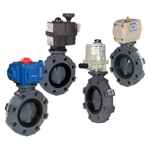 BYV Series 2-1/2 in. PVC FPM Electric Actuator Butterfly Valve HECPBYV11025V at Pollardwater